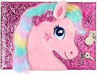 Smiggle Tactile A5 Lockable Notebook Pink Unicorn