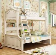 高低床上下床雙層床女孩公主床實木子母床多功能兒童上下床母子床