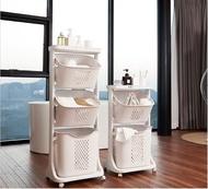 可分離洗衣籃可傾斜玩具收納架(2層-灰白)#897_00002A