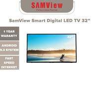 smart tv SamView Smart Digital LED TV 32 Inch With Android OS V.9 With Freeview MYTV Ready HD Ready
