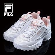Fila [FILA] Womens Disruptor 2 White / Pink (FS1HTB1074X / FS1HTA1074X) Shoes Sneakers