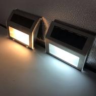 那美若拉專賣店 爆款戶外3LED太陽能樓梯壁燈不銹鋼庭院樓道燈壁燈墻壁燈防水
