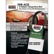BANDO V-RIBBED /  SERPENTINE Belt (6PK, 7PK Series) 6PK1150-7PK1515