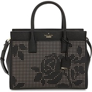(Kate Spade New York) kate spade new york Cameron Street Perforated Candace Satchel Bag, Black-