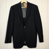 日本green label relaxing UNITED ARROWS 黑色條紋西裝外套 46
