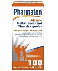[USA Shipping] Pharmaton Advance Multivitamin and Mineral Capsules, 100 Capsules