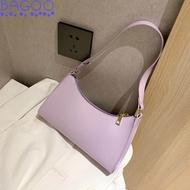 Bagoo แฟชั่นผู้หญิงสีที่บริสุทธิ์กระเป๋าถือที่เรียบง่ายหนัง PU totes กระเป๋าสะพายหญิงขนาดเล็กเดินทางใต้วงแขนกระเป๋า