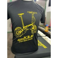 baju shirt xds @ spx k3.2 folding bike (black.gold)
