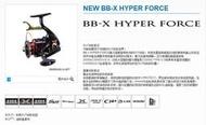 熱賣◆漁具~SHIMANO\/禧瑪諾 新款手剎輪 HYPER FORCE 2500DXXG C3000DXXG