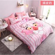 ?潘朵拉小姐?可愛少女心 頑皮豹床包四件組/床單四件組 粉紅豹床包四件組/床單四件組 頑皮粉紅豹寢具 枕頭套 床單 被套