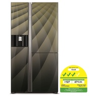 Hitachi R-M700AGP4MSX Side by Side Refrigerator - DIA