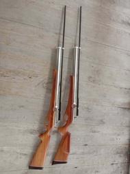 ปืนอัดลมยาว PCP (8 มิล)+พานท้ายไม้ประดู่ 100% ทรงลูกซอง(แถมลูก 2 ขวด)