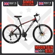 Raleigh Mountain Bike 24/27/30/33 bicycle Disc Brake Damping High Carbon Steel Black Red Spoke Wheel 24 Inch Bike