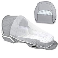 Luddy ベビーベッド 新生児 ベッドインベッド 添い寝 ポータブル 0-24ヶ月 (グレー)