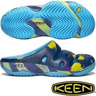 KEEN 1020317藍/黃 Yogui Arts 女戶外護趾拖鞋/運動拖鞋