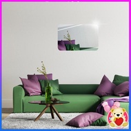 03fukua} 3D Removable Rectangular oval mirror wall sticker