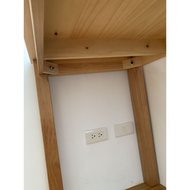 二手實木桌可當書桌餐桌