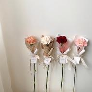 鮮花康乃馨單支花束 韓式花束 母親節花束/母親節花禮/母親節禮物