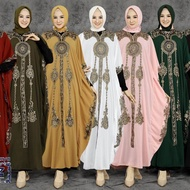 [PRE-ORDER] Sheila Nazya Kaftan Abaya Arab Baju Kelawar sulam mewah chiffon embroidery [ETA:10 day]