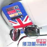 精品寶馬MINI改裝cooper裝飾遮陽板眼鏡夾countryman多功能票據卡片夾