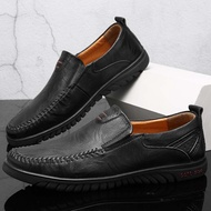 *TRIPLE* รองเท้าไม่มีส้นของผู้ชายรองเท้าคัชชูชายรองเท้าหนังชายรองเท้าคัชชู ผช
