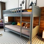 Lifetime品牌系列歐美簡約風全實木爬梯可拆分雙層床【A-112】綠巨人家具