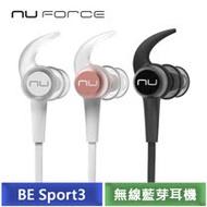 NuForce BE Sport3 無線藍芽耳機 (深空黑/玫瑰金/冰川銀)-【送KKBOX 90天體驗劵】