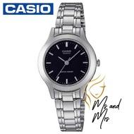 Casio Standard นาฬิกาผู้หญิง สายสแตนเลส รุ่น LTP-1128A-1ARDF (Black)