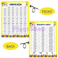 ABAKADA Laminated Chart A4 Size