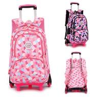 2/6ล้อเป้มีล้อเด็กกระเป๋าเดินทางเด็กกระเป๋านักเรียนสำหรับเดินทางไนลอน