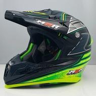 M2R Revelation X4.5 #15 | 23番 黑綠 全罩 越野帽 安全帽 極輕量旗艦級 送風鏡