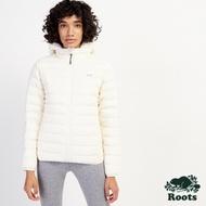Roots女裝- 放逐之旅系列 收納式羽絨外套-白色