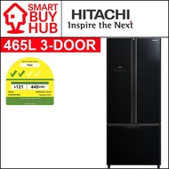HITACHI R-WB560P9MS 465L 3-DOOR FRIDGE (2 TICKS) + FREE RICE COOKER