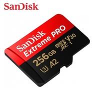 SANDISK 256G Extreme PRO A2 V30 microSDXC U3 UHS-I (SD-SQXCZ-256G) 傳輸高達170M
