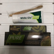 澳洲🇭🇲White glo pure & natural 天然低敏感美白牙膏組