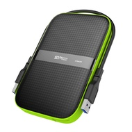 Silicon Power 5 TB External Portable Hard Drive Rugged Armor A60 Shockproof Water-Resistant 2.5 Inch USB 3.0, Military Grade Mil-Std-810G & IPX4, Black (FBE-SU050TBPHDA60S3KFE)