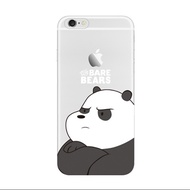 We bare bears for iPhone 6 8 7 X plus TPU phone soft shell iphone6 mobile phone case full transparen