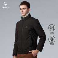 【Chamois】都會時尚立領無縫羽絨外套(軍綠)
