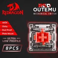 Redragon Outemu Red Switch Dustproof Ultra Low Profile - ROMS-DPULP-RD