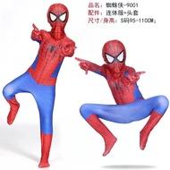 聖誕節兒童服裝 cosplay服裝緊身兒童成人連體超凡蜘蛛人衣服