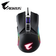 技嘉 Aorus M5 電競滑鼠(黑)/有線/16000dpi/RGB/歐姆龍按鍵/鐵氟龍鼠腳