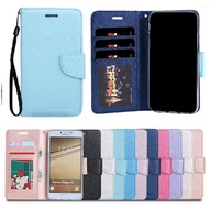 Samsung Galaxy J7 Plus Silk protection leather case cover