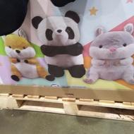 #124855,GOFFA 28吋坐姿的動物絨毛娃娃  有三種 熊貓 松鼠 倉鼠 好市多 代購 台中