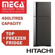 HITACHI R-VG560P7MS 2 DOOR TOP FREEZER FRIDGE 450L / FREE VACUUM CLEANER
