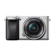 SONY A6400 16-50mm 變焦鏡組(公司貨)+128G記憶卡+專用電池X2+專用座充+保護鏡+大吹球清潔組+拭鏡筆+專用相機包-銀色