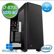 技嘉B360平台【戰禍夜梟】i7六核 GTX1070-8G獨顯 1TB效能電腦