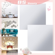 BS Ultra-thin Stickers Acrylic Soft Mirror Mirror DIY Adhesive stickers Mirror Sticker Self-adhesive PET Wall Stickers