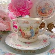 英國製 Royal Doulton 骨瓷雙把手馬克杯小朋友杯送禮庫存品完整