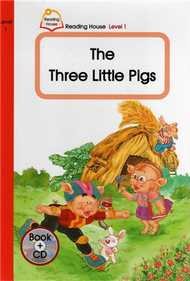 【THE THREE LITTLE PIGS-READING HOUSE 1 B+CD】 (二手)