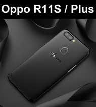 ★ Oppo R11S / R11S Plus Transparent Crystal Clear Case Casing Cover Tempered Glass Screen Protector